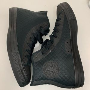 Converse black fuse hi top tectuff skin shoes
